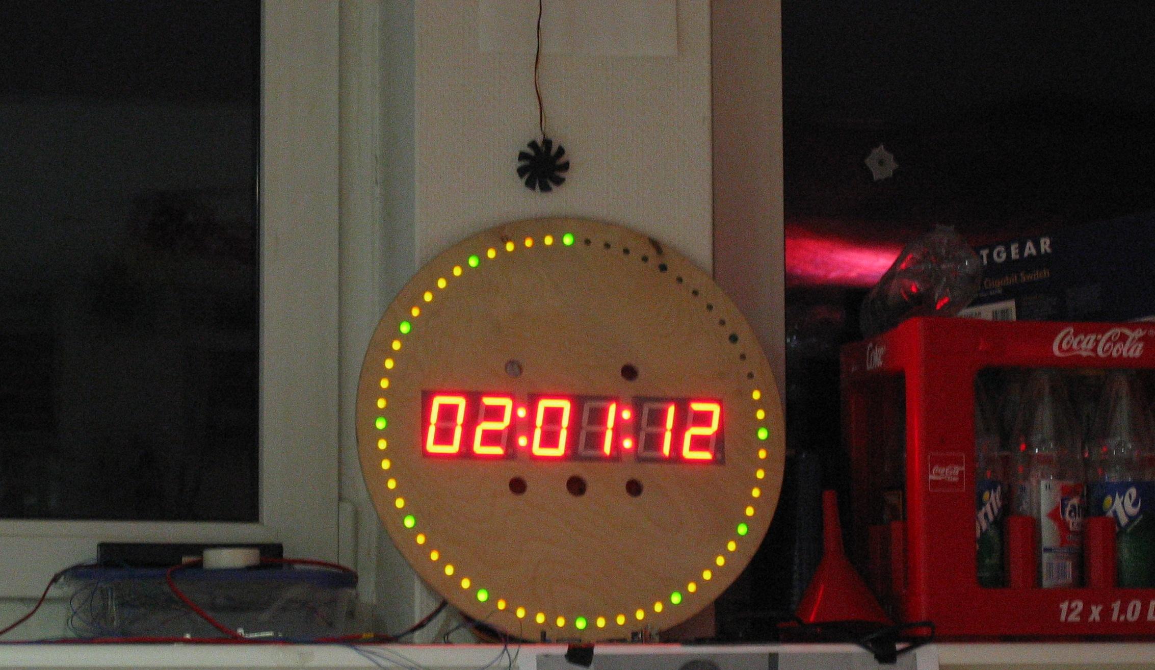 A Ntp Dcf77 Led Clock Ledclockcircuitboard2jpg